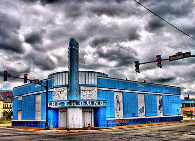 Greyhound Bus Station Original by Terri Latham