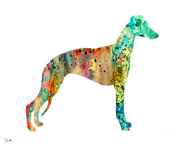 Greyhound Art Painting - Greyhound  by Luke and Slavi