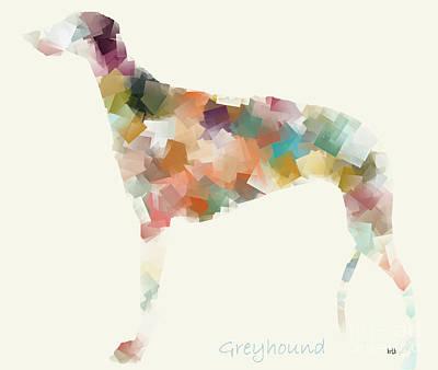 Greyhound Modern Print by Bri B
