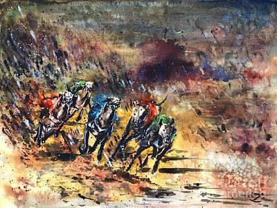Greyhound Racing Original by Zaira Dzhaubaeva