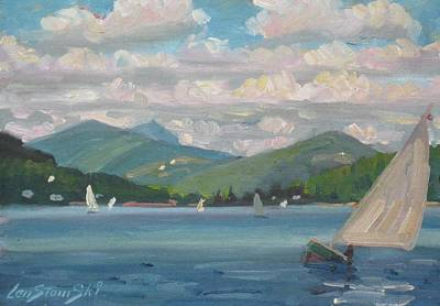 Berkshire Hills Painting - Greylock From Pontoosuc Lake by Len Stomski