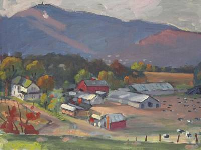 Berkshire Hills Painting - Greylock From The Ziemba Farm by Len Stomski