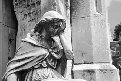 Creepy Photograph - Grieving Statue by Jennifer Ancker
