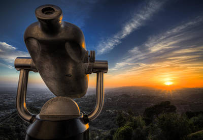 Griffith Observatory Telescope Print by Jerome Obille