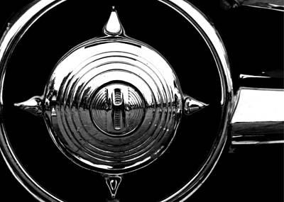 Classic Auto Photograph - Grill Bullet 1949 Ford Custom V-8 by Jon Woodhams