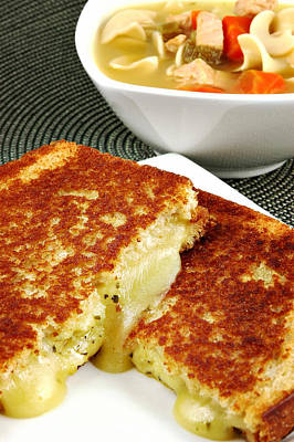Grilled Cheese Print by Karin Hildebrand Lau