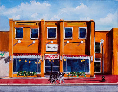 Local Restaurants Painting - Grilled by Susan Culver