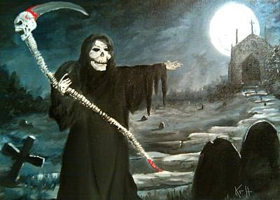 Grim Creeper Print by Kevin F Heuman