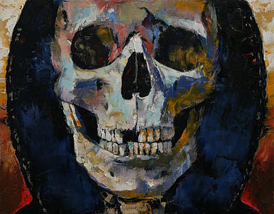 Hoodie Painting - Grim Reaper by Michael Creese