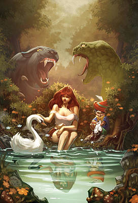 Grimm Fairy Tales Pinocchio And Belinda Print by Zenescope Entertainment