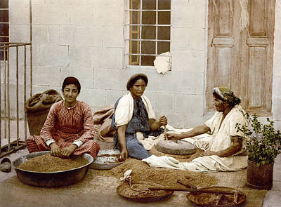 Grind House Painting - Grinding Corn, C1900 by Granger
