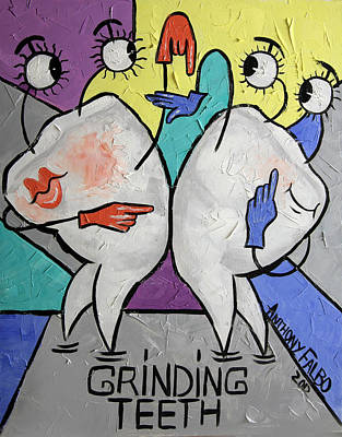 Grinding Teeth Print by Anthony Falbo