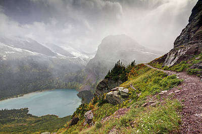 Grinnell Glacier Trail Print by Mark Kiver