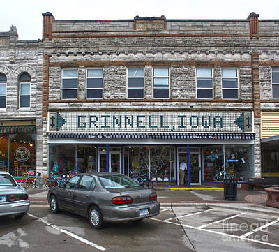 Grinnell Iowa - Downtown - 06 Print by Gregory Dyer