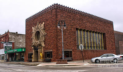 Grinnell Iowa - Louis Sullivan - Jewel Box Bank - 01 Print by Gregory Dyer
