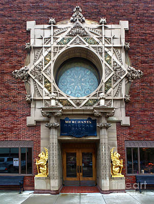 Grinnell Iowa - Louis Sullivan - Jewel Box Bank - 05 Print by Gregory Dyer