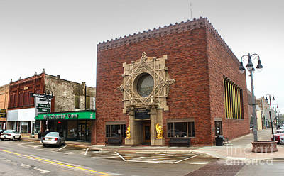 Grinnell Iowa - Louis Sullivan - Jewel Box Bank - 02 Print by Gregory Dyer