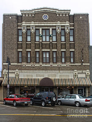 Grinnell Iowa - Masonic Temple -02 Print by Gregory Dyer