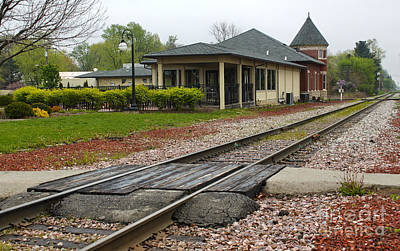 Grinnell Iowa - Train Depot Print by Gregory Dyer