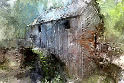 Grind House Photograph - Grist Mill At Cades Cove by Evie Carrier