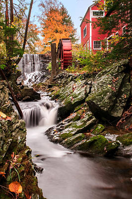 Red Barn. New England Photograph - Grist Mill-bridgewater Connecticut by Thomas Schoeller