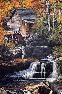 Grist Mill Print by Wanda Kightley