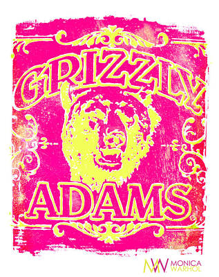 Grizzly Adams Print by Monica Warhol