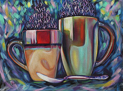 Pottery Painting - Groovy Mugs by Eve  Wheeler