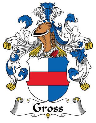 Gross Coat Of Arms German Print by Heraldry