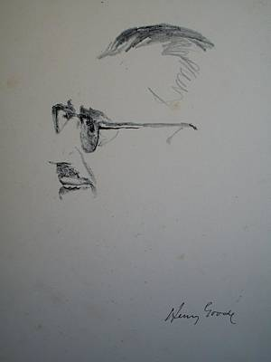 Groucho Marx Drawing - Groucho Marx by Henry Goode