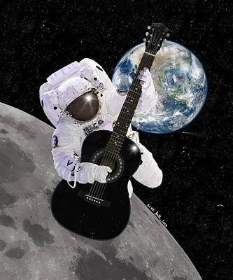 Musician Digital Art - Ground Control To Major Tom by Nikki Marie Smith