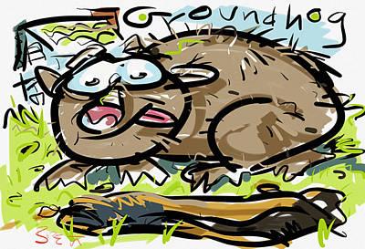 Groundhog Digital Art - Groundhog by Brett LaGue