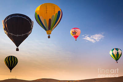 Group Of Balloons Print by Inge Johnsson