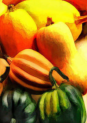 Group Of Gourds Print by Elaine Plesser