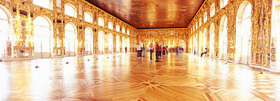 Group Of People Inside A Ballroom Print by Panoramic Images
