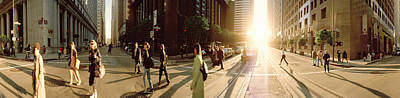 Group Of People Walking On The Street Print by Panoramic Images