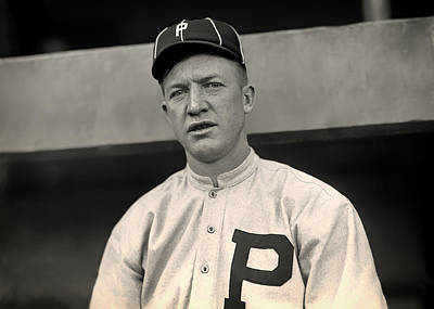 Baseball. Philadelphia Phillies Photograph - Grover Cleveland Alexander - 1915 by Mountain Dreams