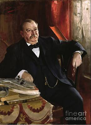 Zorn Painting - Grover Cleveland by Aners Zorn