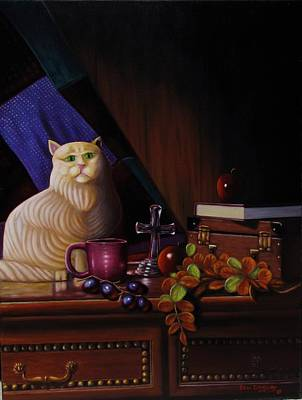 Grumpy Cat Print by Gene Gregory