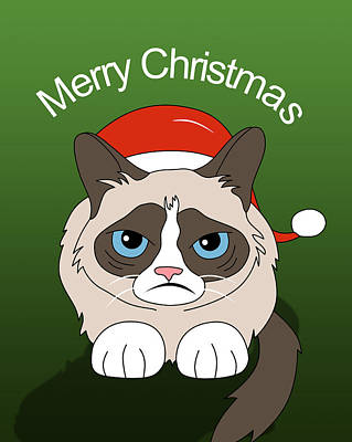 Grumpy Cat Print by Mark Ashkenazi