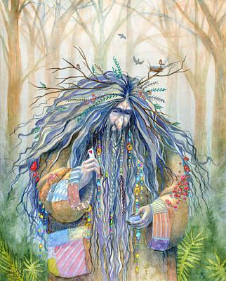 Grumpy Troll Print by Sara Burrier