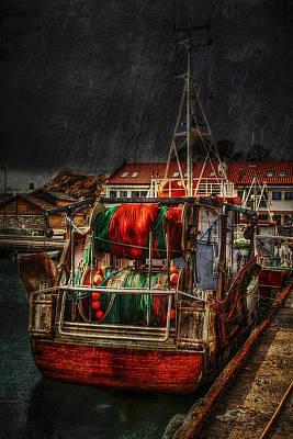 Trawler Photograph - Grunge Art Part Ix - Resting by Erik Brede