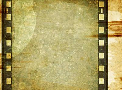 Color Painting - Grunge Film Frame by Modern Art Prints