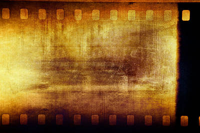 Emulsion Photograph - Grunge Filmstrip by Les Cunliffe
