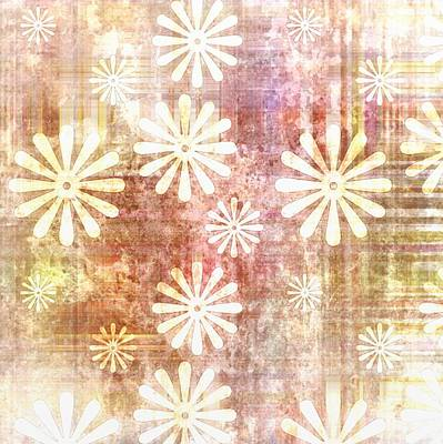 Grunge Flowers Print by Gina Lee Manley