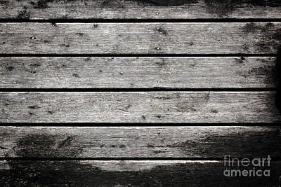 Rough Photograph - Grunge Rustic Real Wood Planks Board by Michal Bednarek