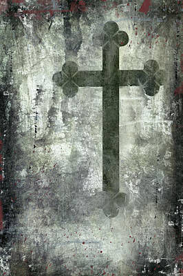 Abstract Art Painting - Grunge Spiritual Abstract by Modern Art Prints