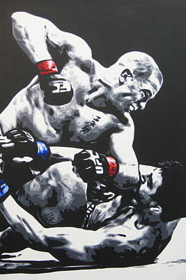 St Pierre Painting - Gsp Ground N Pound by Geo Thomson
