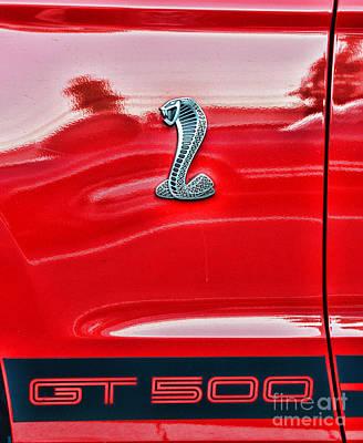 Cobra Photograph - Gt 500 Mustang by Paul Ward