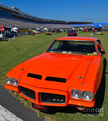 Gto At The Racetrack Print by Mark Spearman